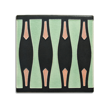 6x6 Hourglass Border, Pale Green
