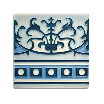 6x6 Havana Border | China Blue