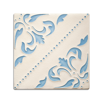 6x6 Lisbon Wallpaper, China Blue