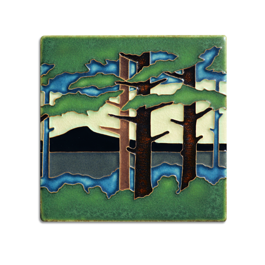 6x6 Pine Landscape - Mountain (Summer)