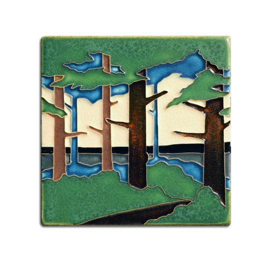 6x6 Pine Landscape - Valley (Summer)