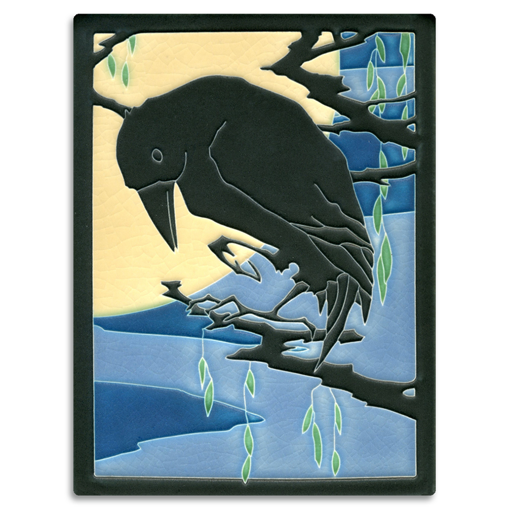 Arts and crafts tiles - 6x8 Raven Midnight