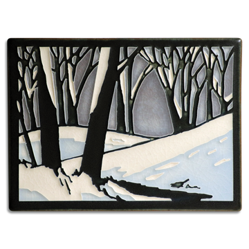 6x8 Snowscape - Twilight