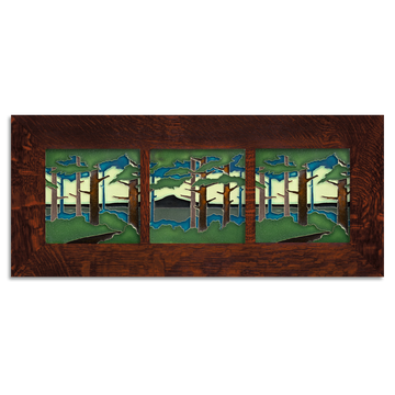 6x6 Pine Landscape Craftsman Oak Park Framed Tile Set