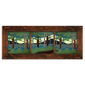 8x8 Pine Landscape Craftsman Oak Park Framed Tile Set