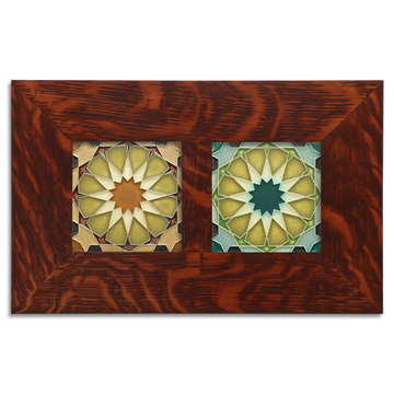 4x4 Alhambra Framed Tile Set Craftsman Oak (Horizontal)