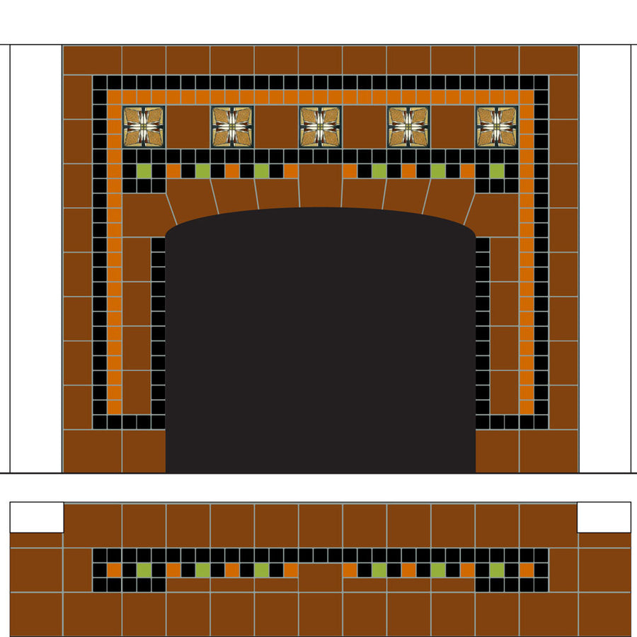 Frank Thomas House Fireplace Plans