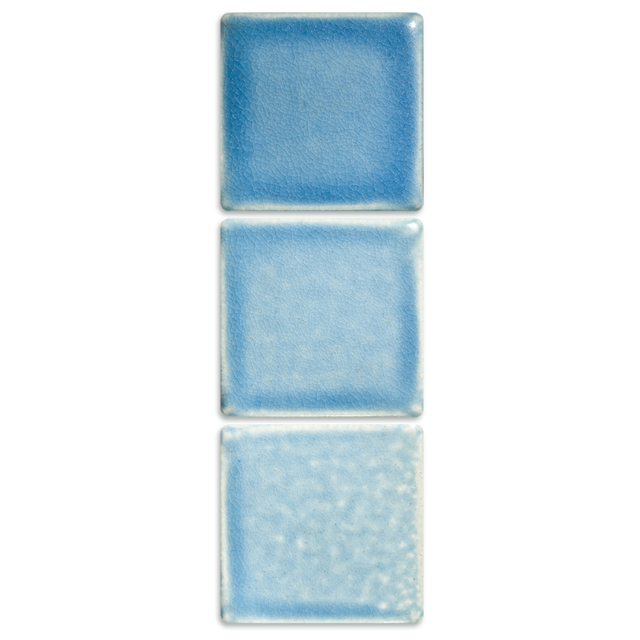Glaze Range Sample Pale Blue, Matte