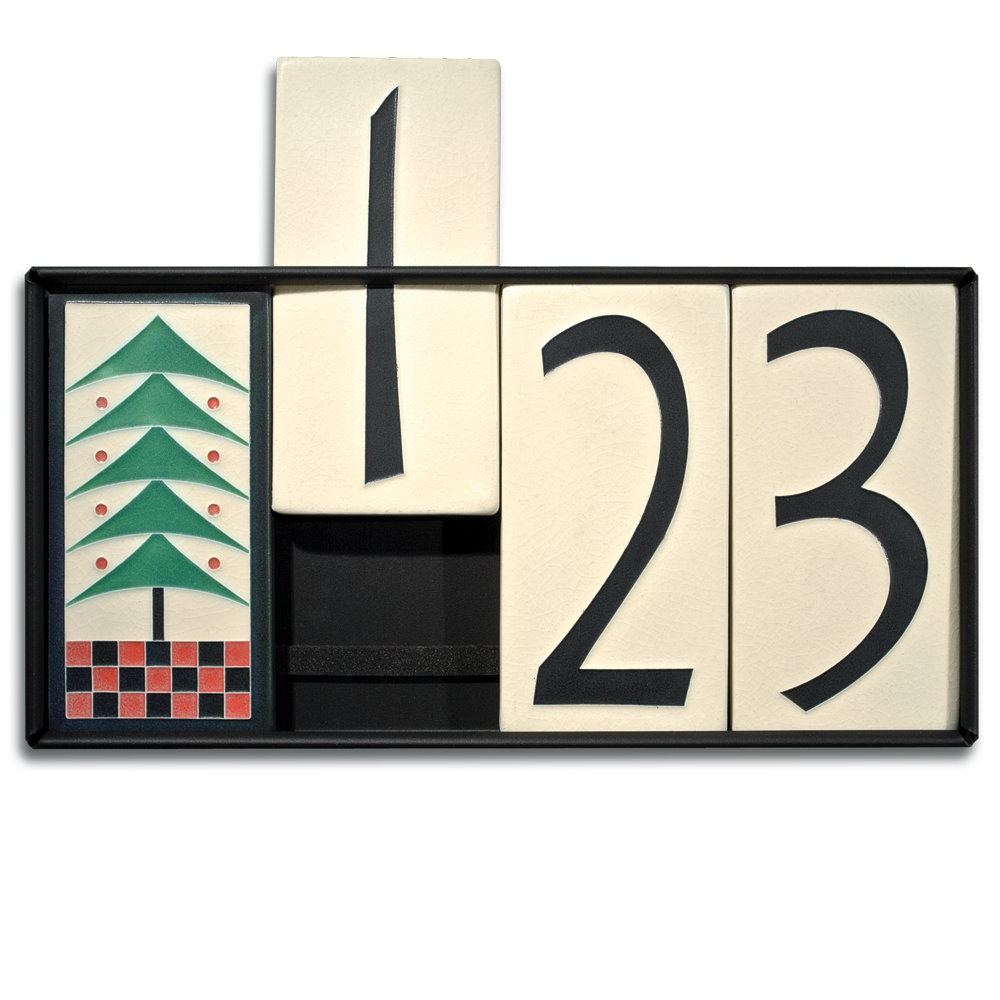 4x8 house number frame five tiles motawi tileworks for House number frames