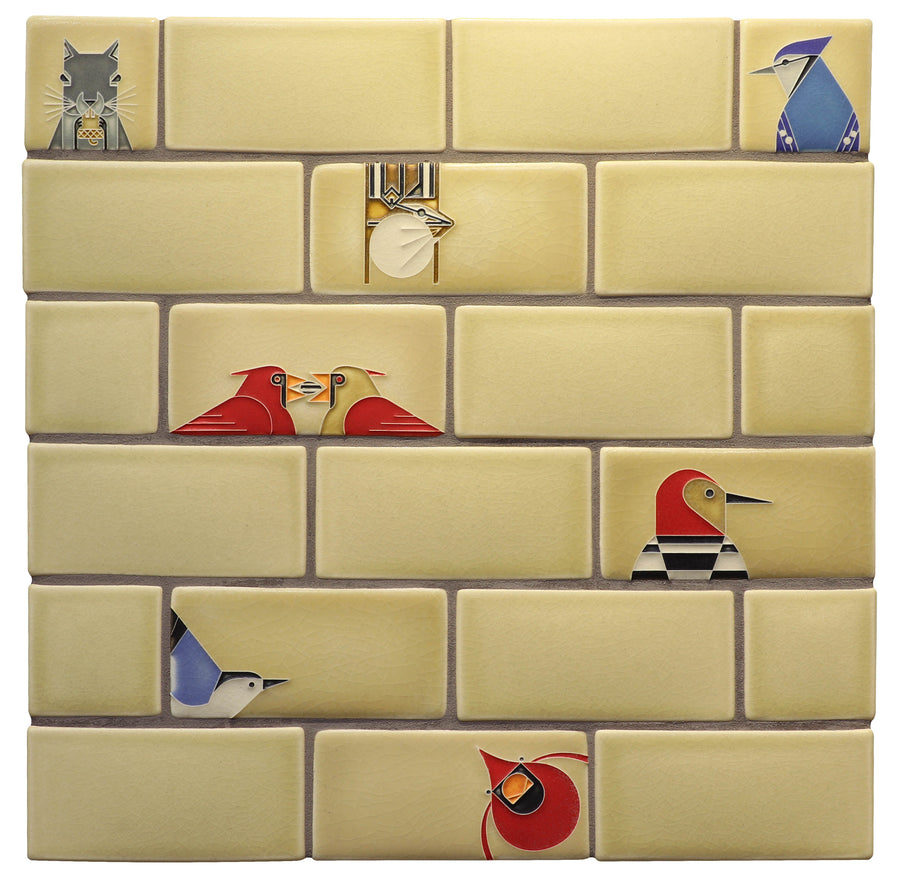 Charley Harper Subway Tile, Light Sand