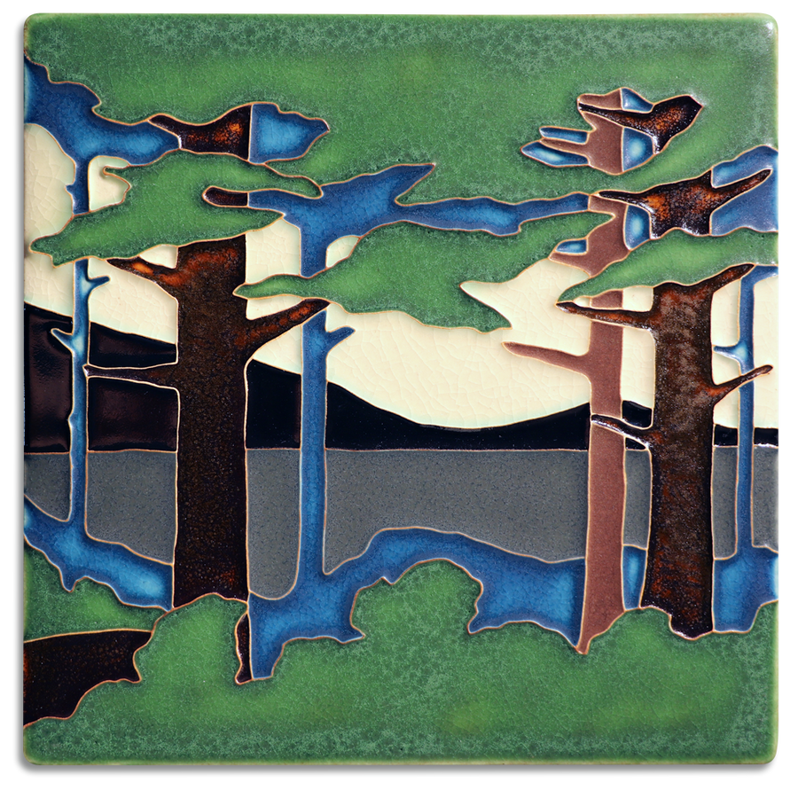 8x8 Pine Landscape - Valley (Summer)