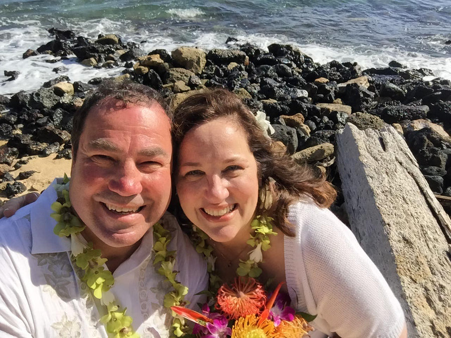 Julie and Mike at their 2016 Hawaii Wedding
