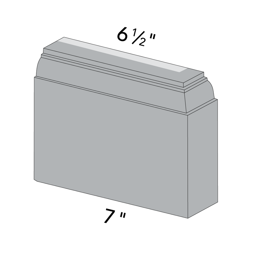 6x6 Linwood Deep Base, Right End Dimensions