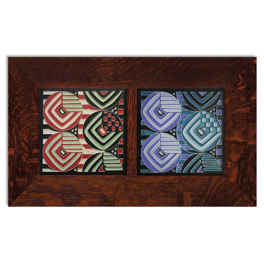 6x6 Margaret Double Framed Craftsman Oak Park Tile Set