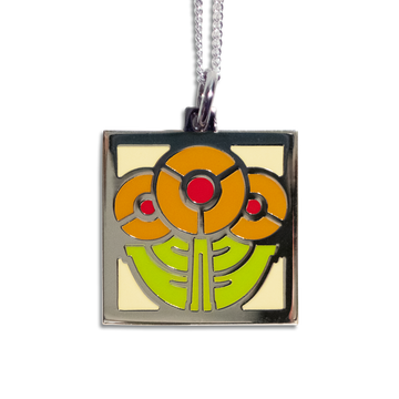 Round Flowers Pendant Necklace