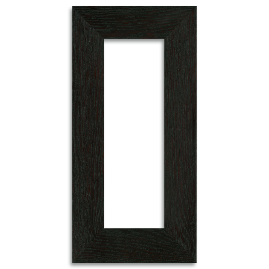 Ebony Finish - 4x12 2-inch Oak Park Frame - Single Opening