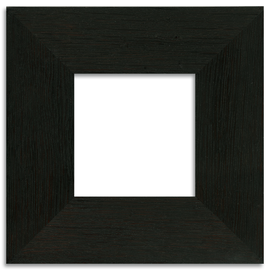 Ebony Finish - 4x4 2-inch Oak Park Frame - Single Opening