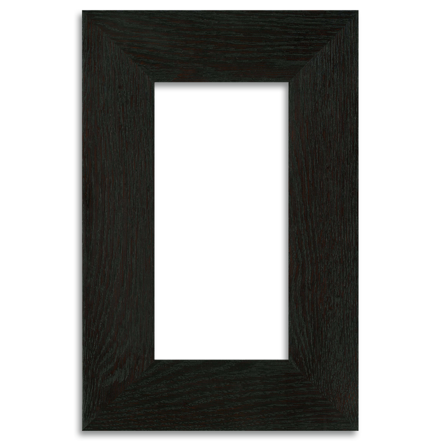 Ebony Finish - 4x8 2-inch Oak Park Frame - Single Opening