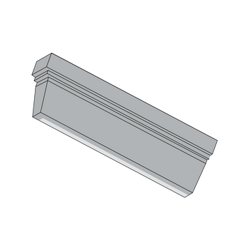 2x6 Rothwell Trim, Left End