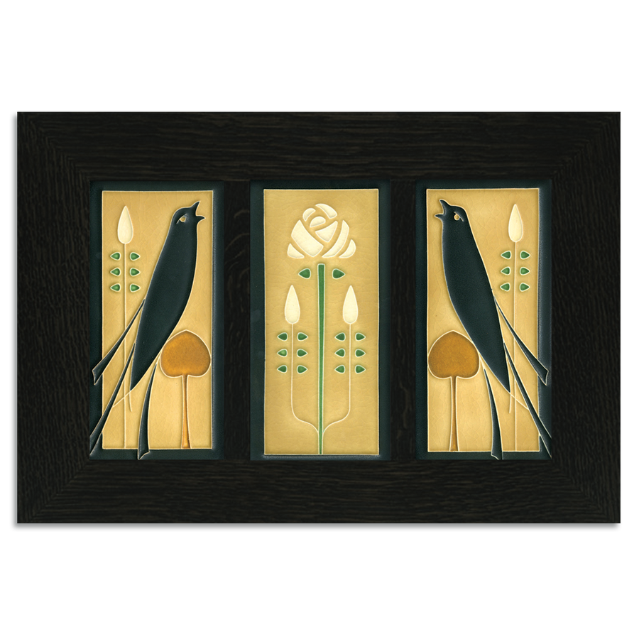 4x8 Songbirds (Golden) Ebony Oak Park Tile Set