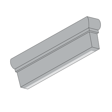 2x6 Winslow Trim, Right End