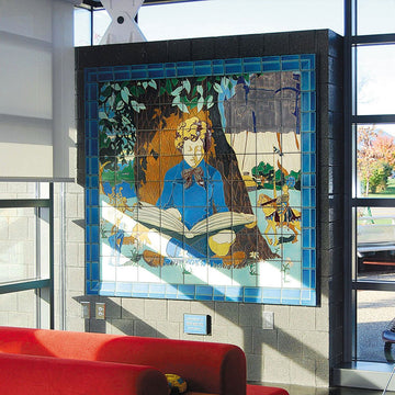 Ann Arbor District Library | Boy Reading Mural