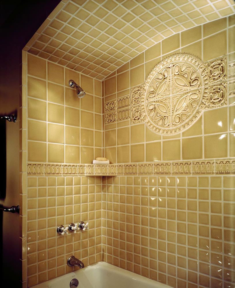 Armitage shower, finished in 5143, Sand.