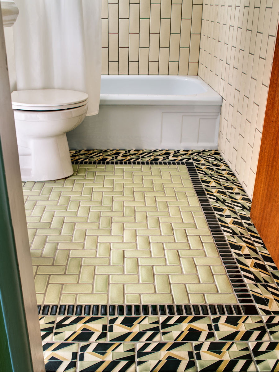 Bending Road Bathroom Floor