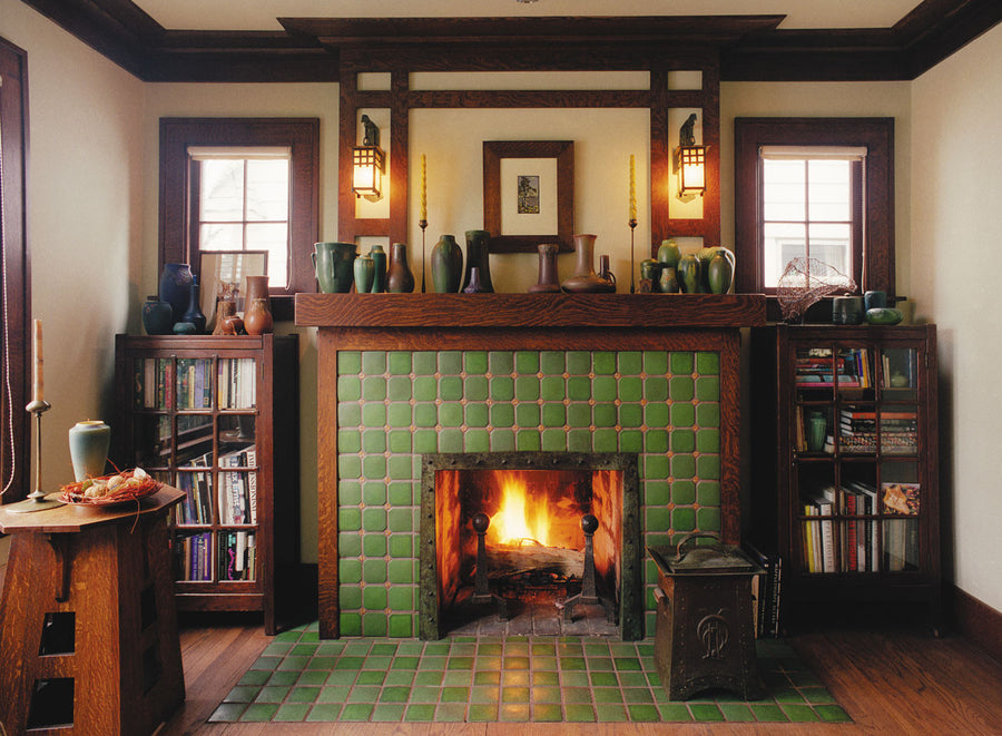 Clipped Corners Fireplace
