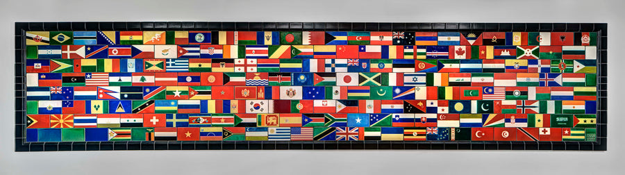 Flags of the United Nations Mural, U of M Dearborn