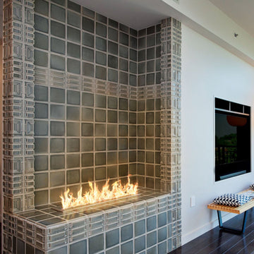 Seaside Condo Fireplace
