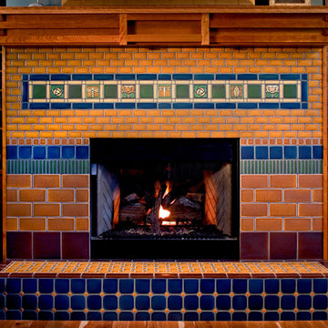 Colorful Collage Fireplace