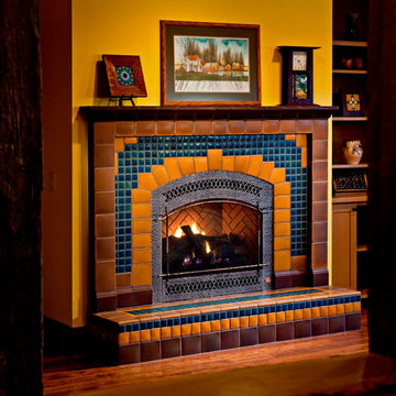 Custom Arch Fireplace