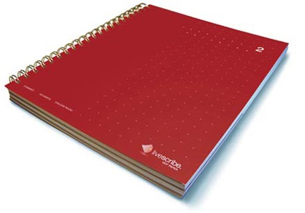 Three Subject Notebook, Number 2, Red