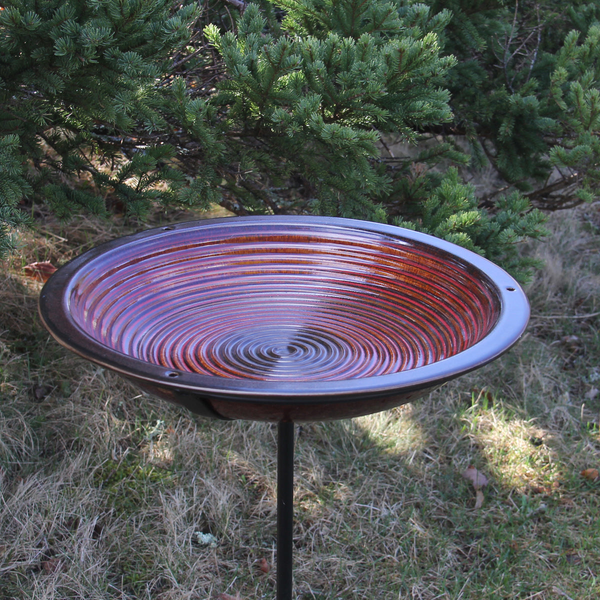Circles Bird Bath, Post Style