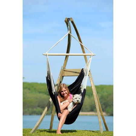 Brazil Hammock Chair in Black in Atlas Stand