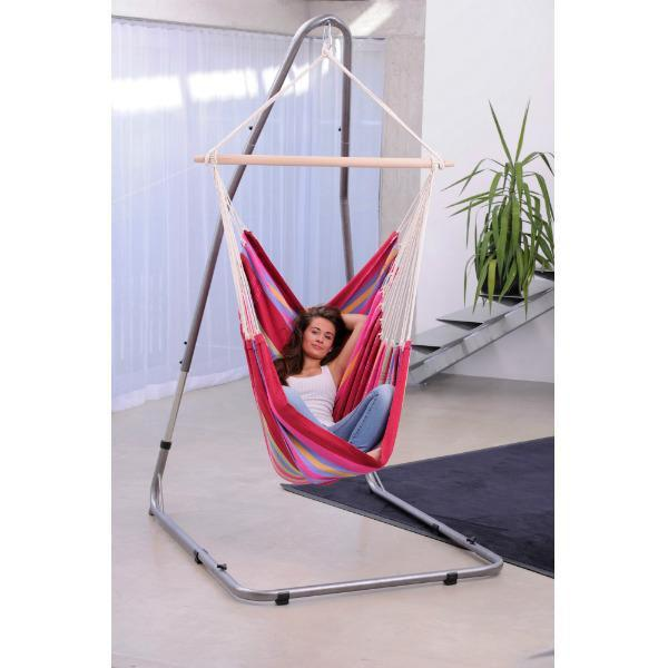 Brazil Hammock Chair in Sorbet with Luna Chair Stand