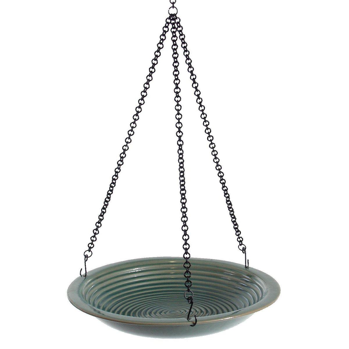 Circle Bird Bath - Jade Green
