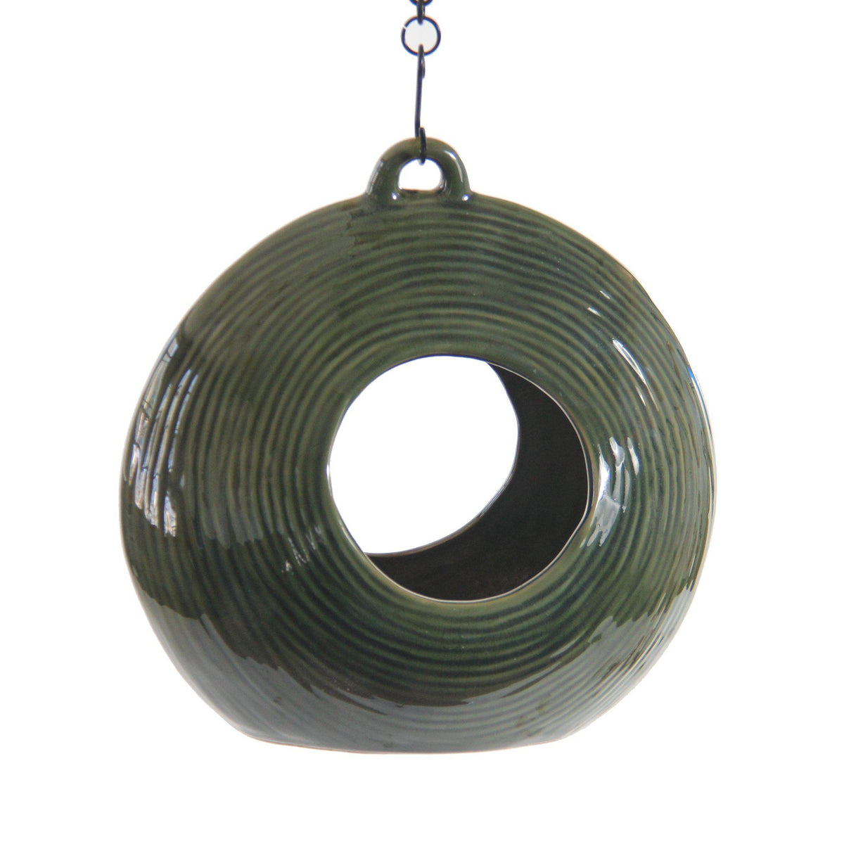 Circles Fly-Through Feeder, Heather Green, from Byer of Maine
