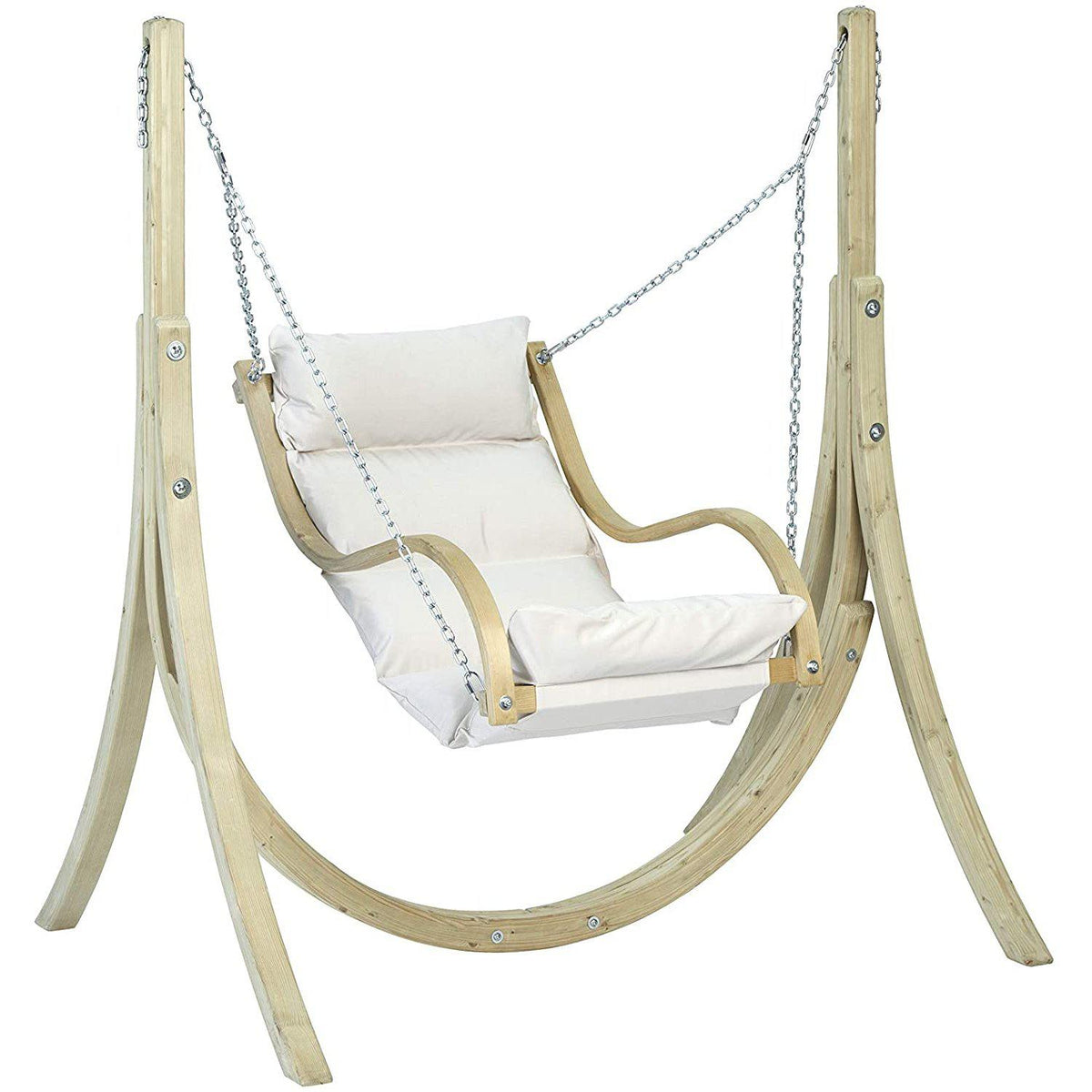 Globo Fat Chair and Stand, Natural, from Byer of Maine