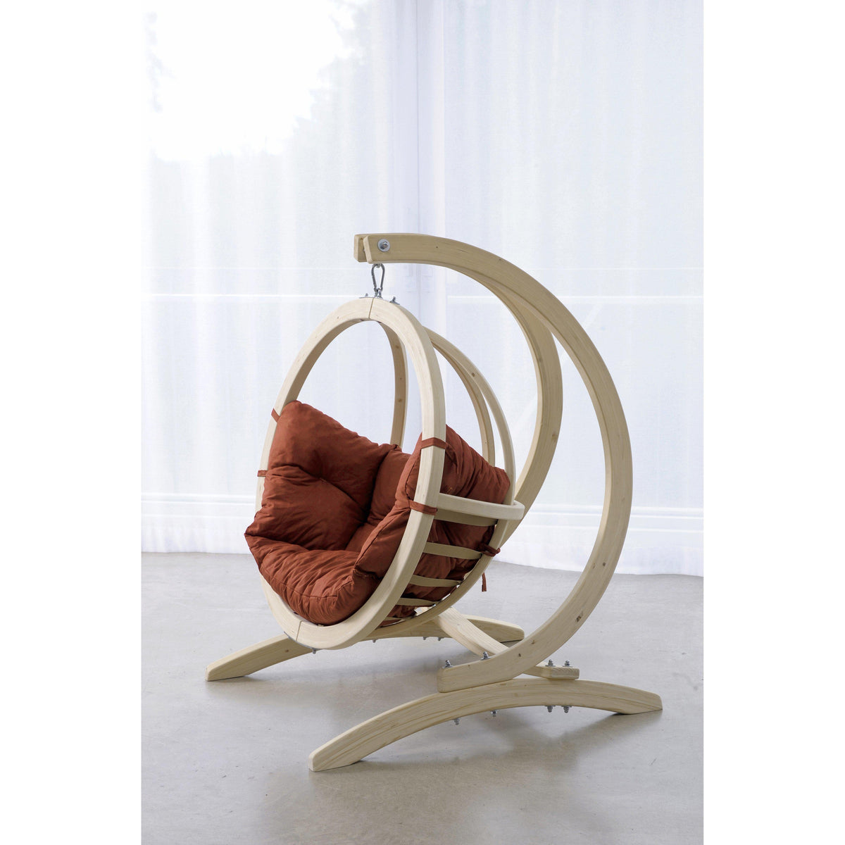 Globo Kid's Chair and Stand, Terracotta Agora, from Byer of Maine