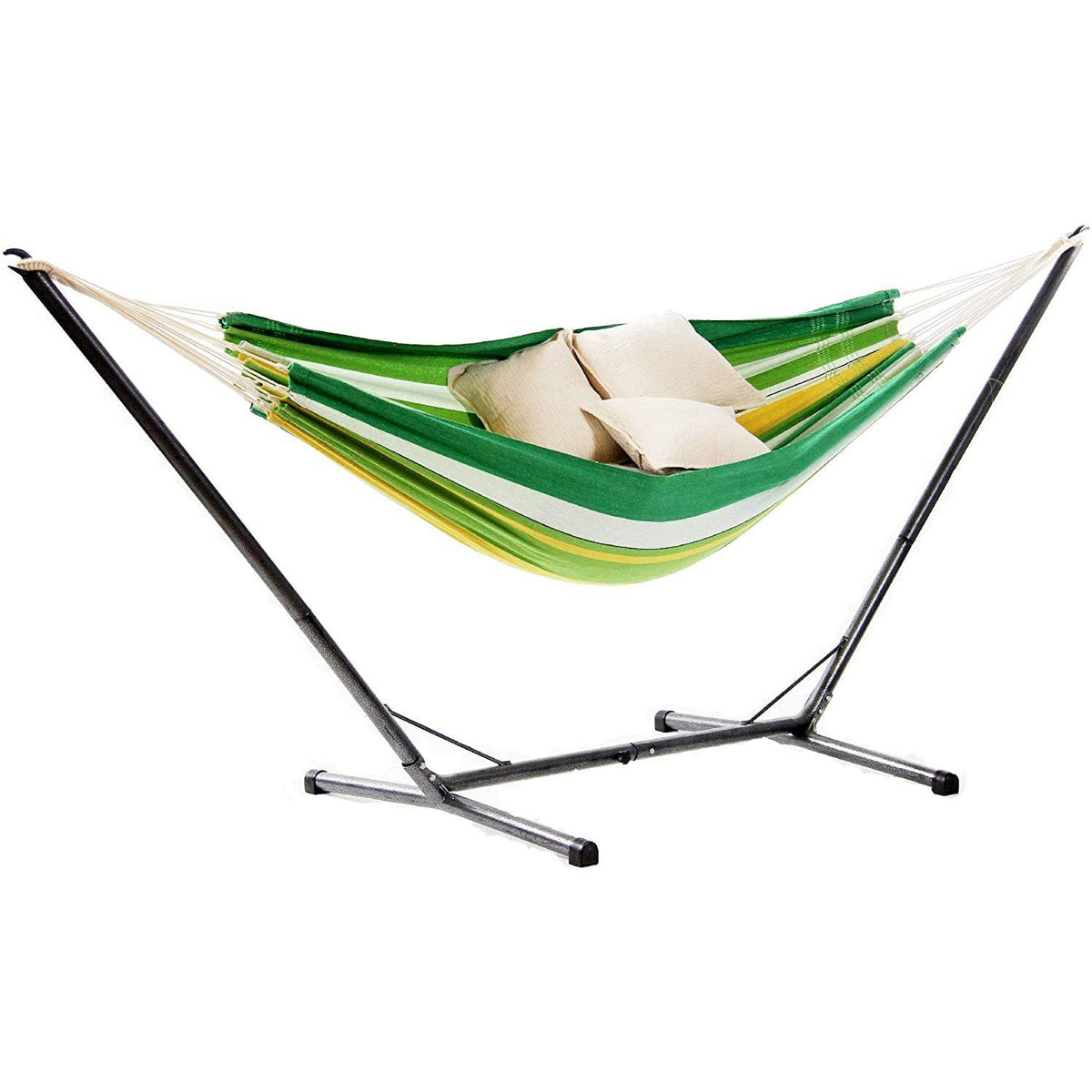 Lambada Hammock and Ceara Hammock Stand, Apple Green, from Byer of Maine