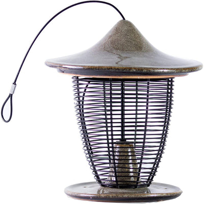 Pagoda Bird Feeder, Sandy Granite, from Byer of Maine