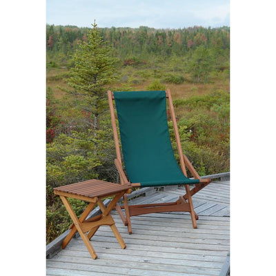 Pangean Folding Table pictured with Glider on Orono Bog