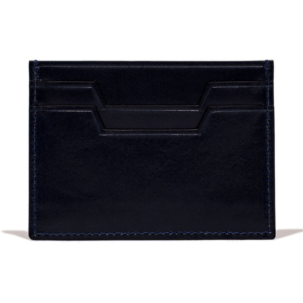 NAVY LEATHER SLIM CARD CASE