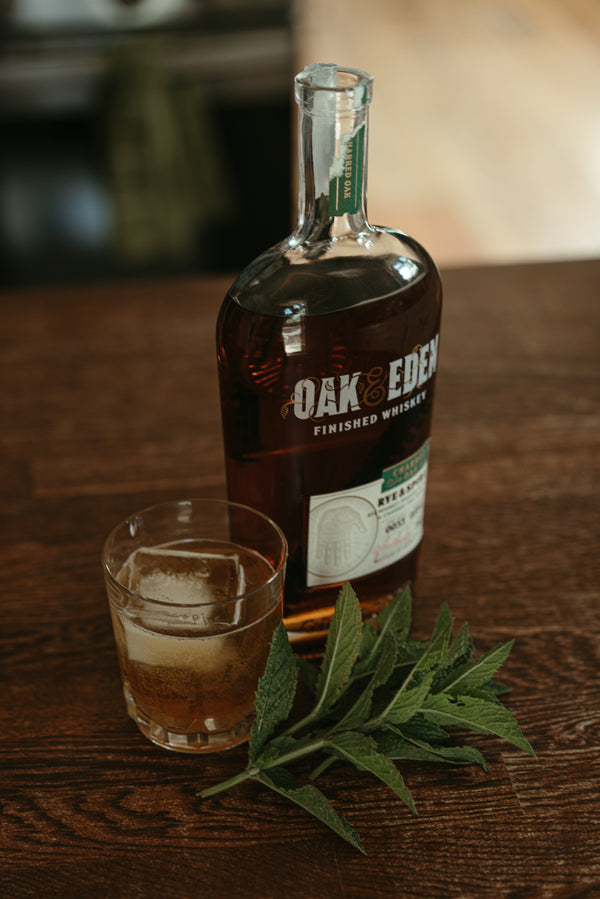 Whiskey Smash with Oak & Eden