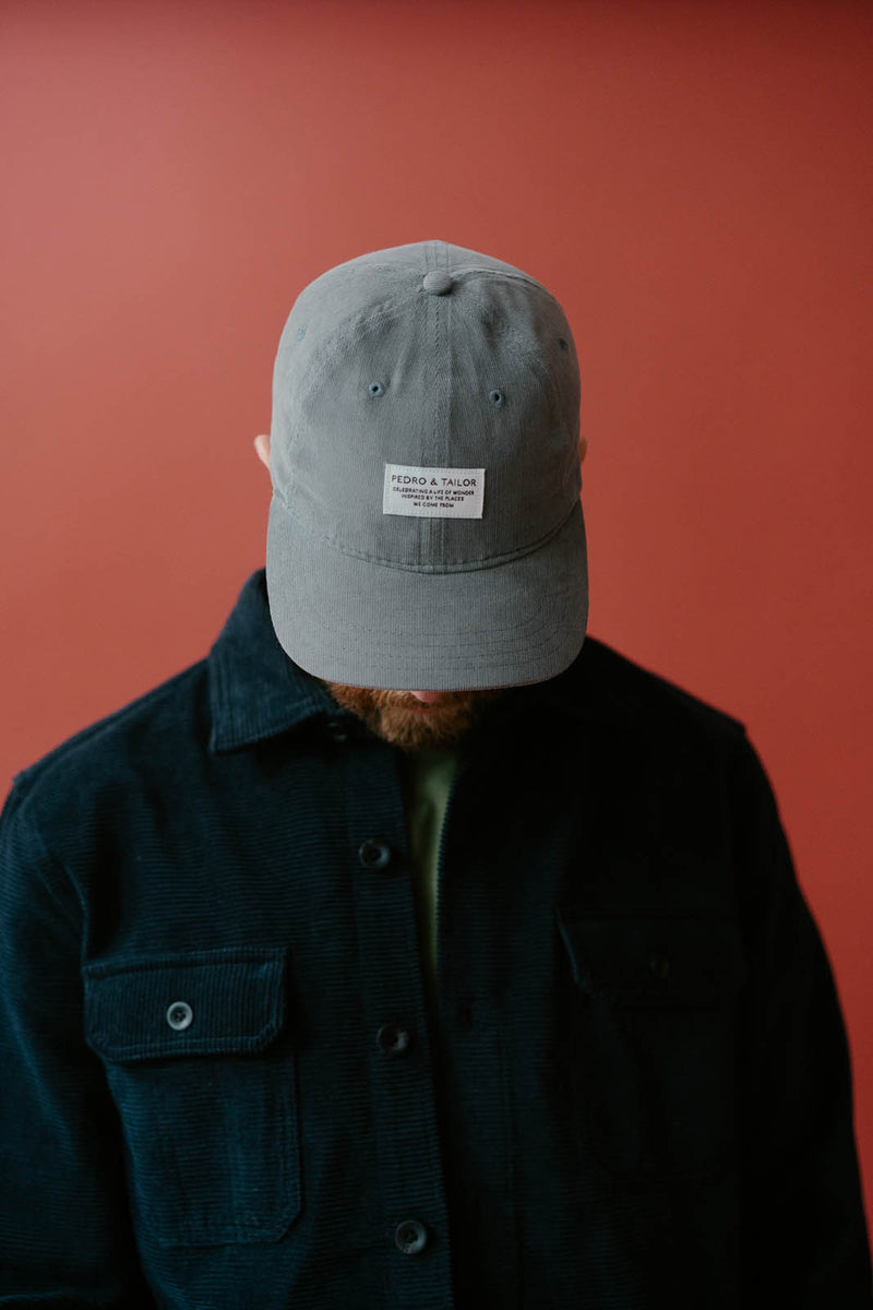 Corded Velveteen Hat - Cement