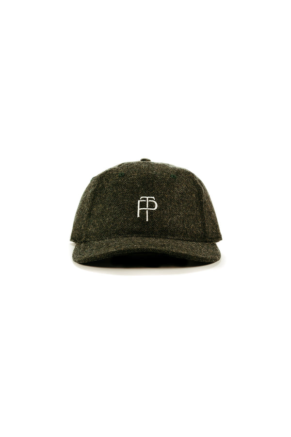 Heritage Hat - Green Herringbone