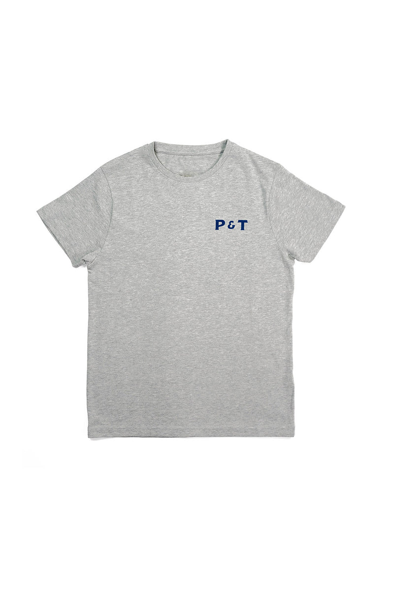 pedro-and-tailor_Logo Tee - Heather Grey
