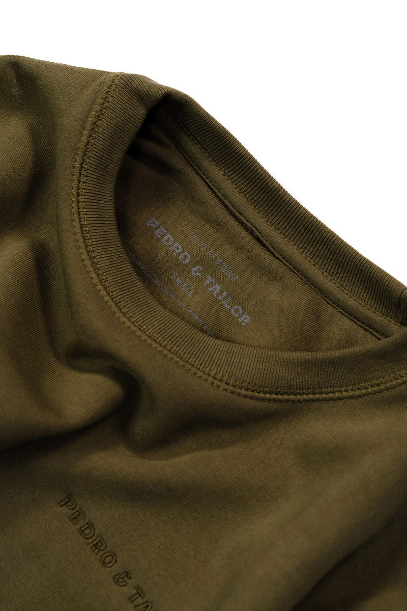pedro-and-tailor_Algodon Organico Sweatshirt - Olive